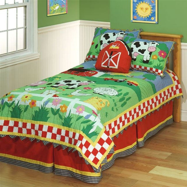 On The Farm Quilt Set Free Shipping Today Overstock