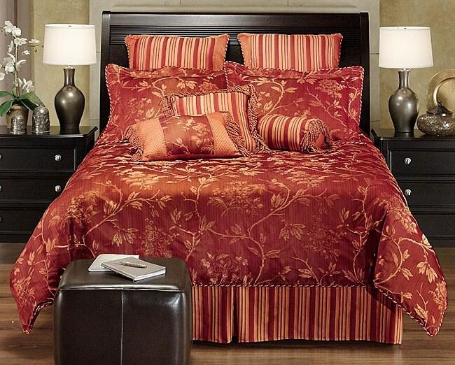 Ming Garden Red Luxury 4-piece Comforter Set
