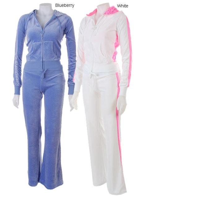 JLO by Jennifer Lopez Junior Velour Pant & Jacket Set