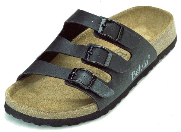 d817f5cc224 Shop Betula Woogie 3 Strap Black Sandal - Free Shipping On Orders Over  45  - Overstock - 1401886