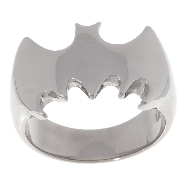 Stainless Steel Bat Ring