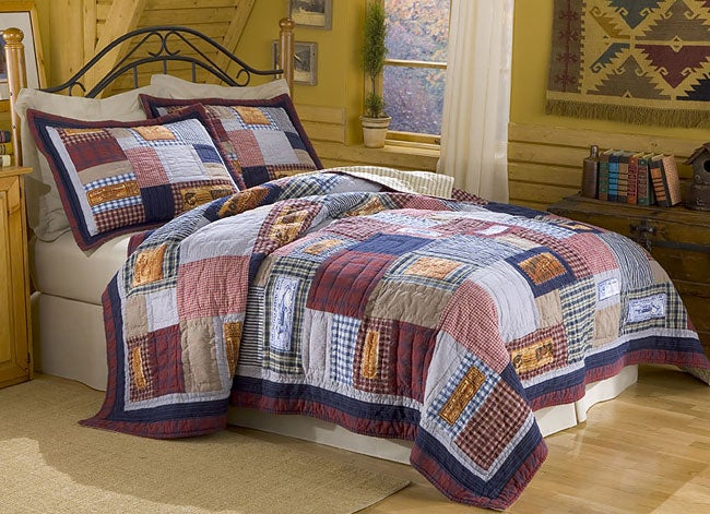Vintage Lure Quilt Set by Columbia