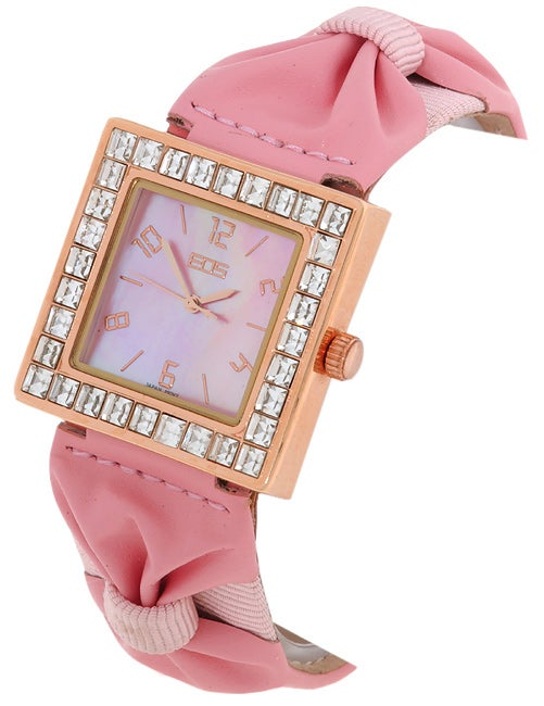 c7e3acf64 Shop EOS Women's Pink Starburst Watch - Free Shipping Today - Overstock -  1422174