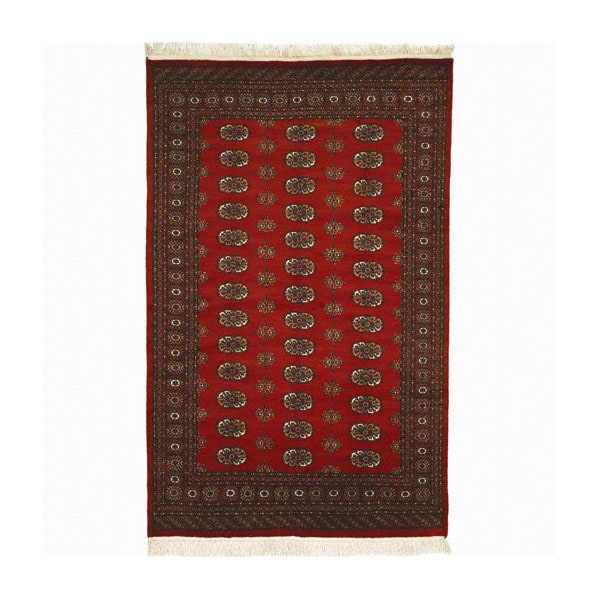 Nourison Hand-knotted All-wool Rust Bokhara Rug (9'6 x 13'6)