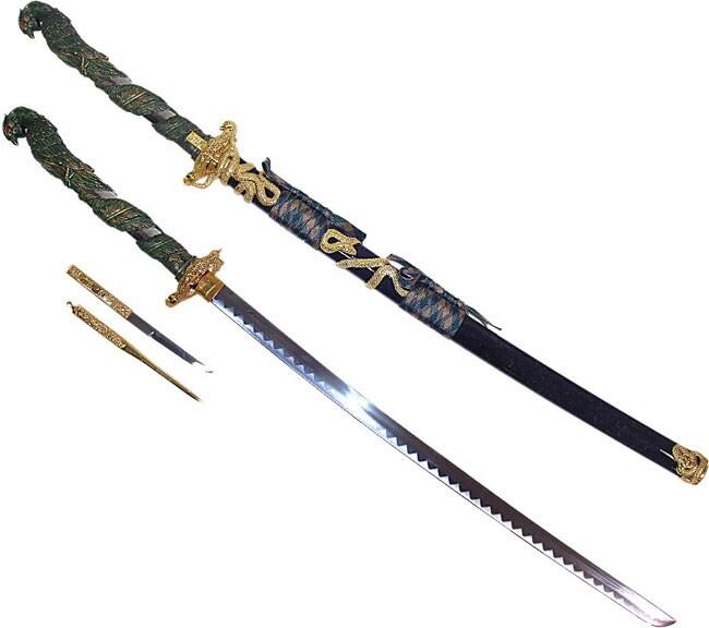 Feng Huang Chinese Katana (Green)