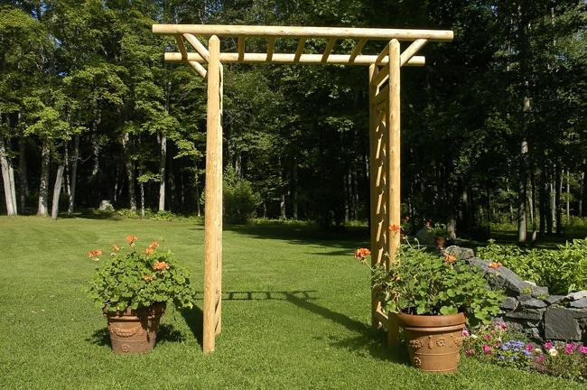 Rustic Log Pole Cedar Adirondack Garden Pergola Free