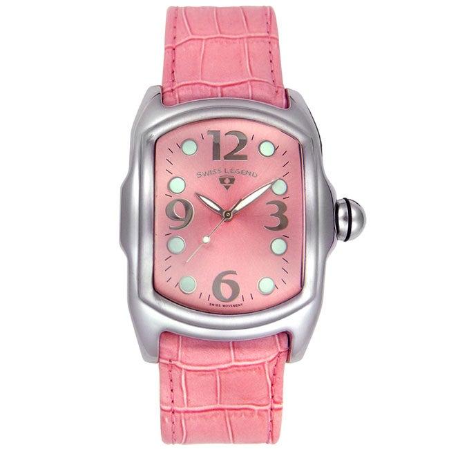 Swiss Legend Women's Pink Leather Watch