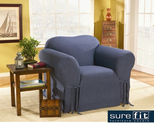 Sure Fit Blue Jeans Chair Slipcover