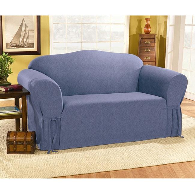 Sure Fit Blue Jeans Sofa Slipcover