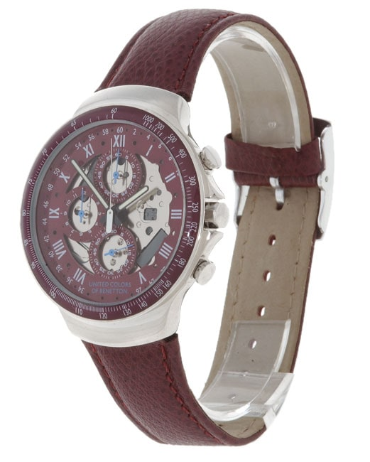 United colors of benetton men 39 s stainless steel chronograph watch free shipping today for Benetton watches