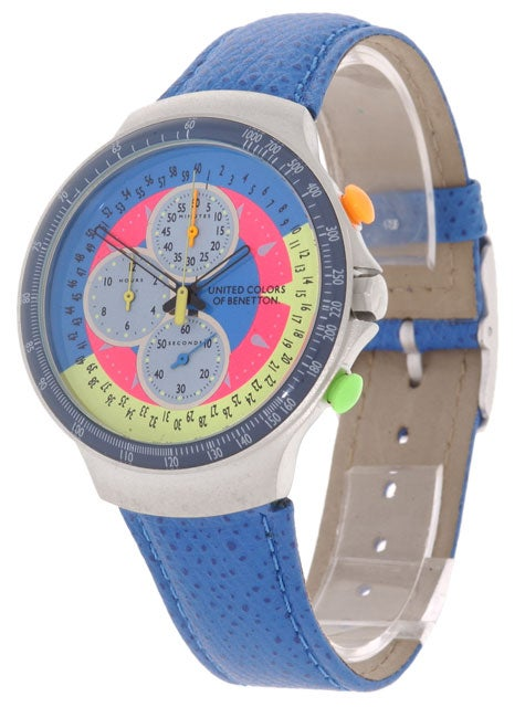 United colors of benetton men 39 s chronograph watch free shipping today 10220537 for Benetton watches