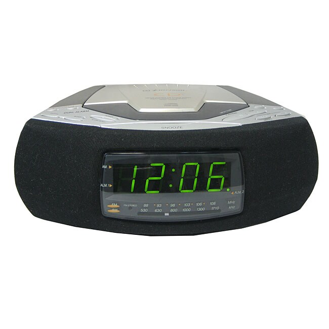 emerson ckd9908 alarm clock radio with cd player. Black Bedroom Furniture Sets. Home Design Ideas