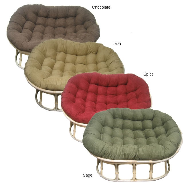 Microsuede Cushion Double Papasan Chair Free Shipping