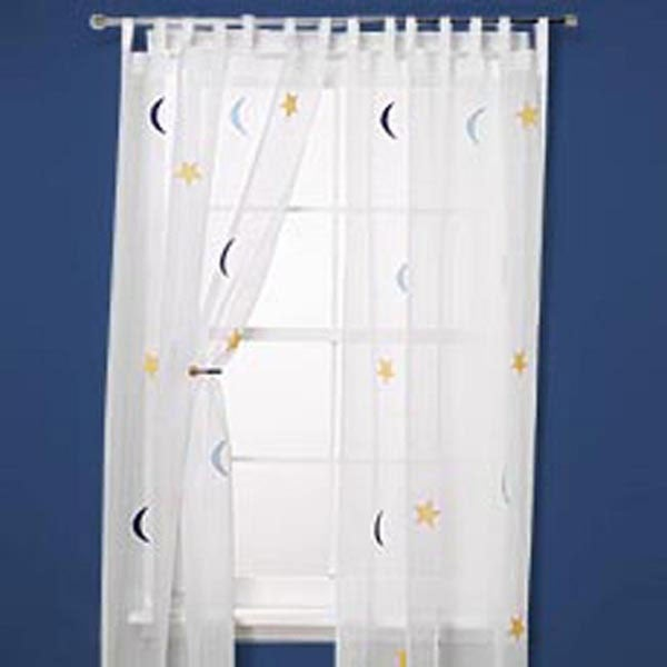 Moon and Star 84-inch Curtain Panel Pair - Thumbnail 0