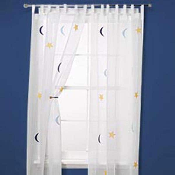 Moon and Star 84-inch Curtain Panel Pair