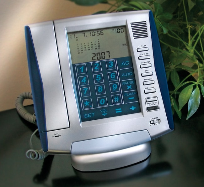 LCD Touch-Panel Phone with Talking Caller ID