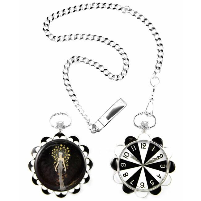 Erte Diva Design Sunflower Pocket Watch