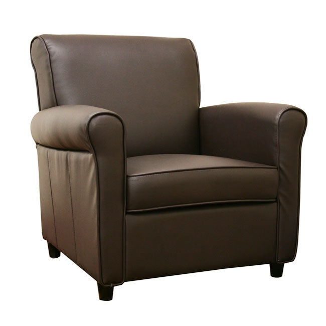 Anderson Espresso Brown Full Bi-cast Leather Club Chair