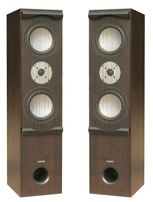 Sdat Watt Floor Standing Speaker Pair Free Shipping Today Overstock