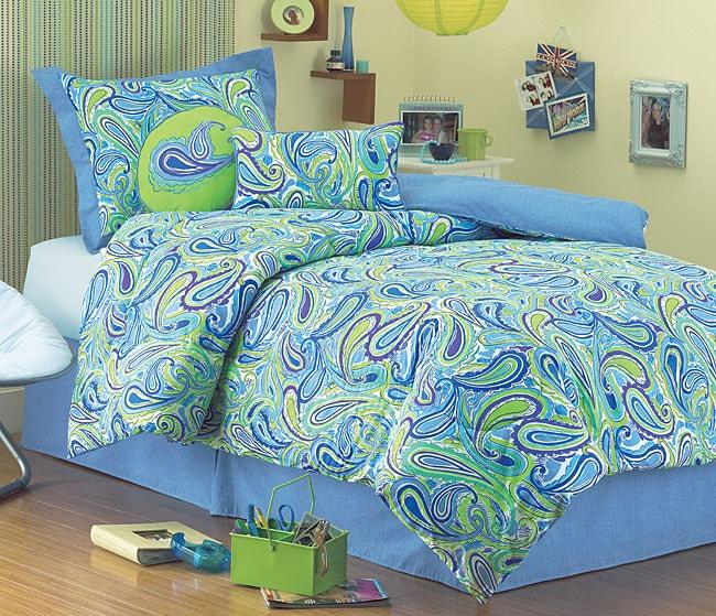 seventeen paisley comforter set (queen) - free shipping today