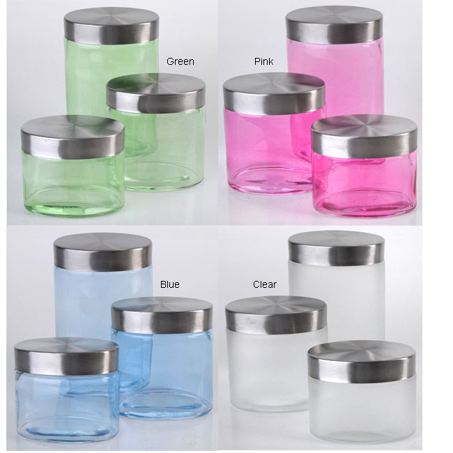 Vanity Jars (Set of 3) by Steeltex