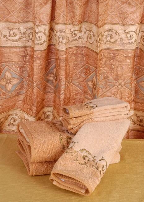 Vohann Italia Shower Curtain With Towel Set