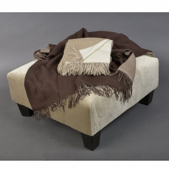 Laurel Creek Luxury Pure Cashmere Two-tone Reversible Blanket