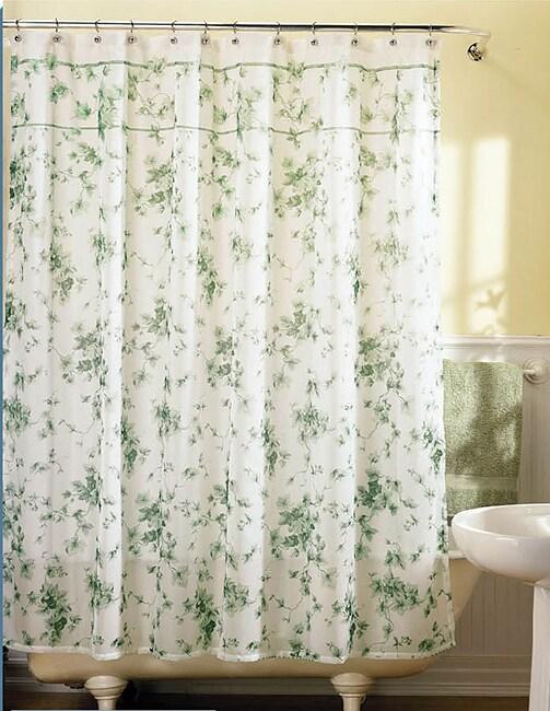 Shop Ivy Lattice Fabric Shower Curtain