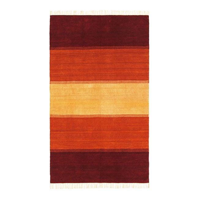 Hand-woven Horizon Chenille Rug (9' x 12')
