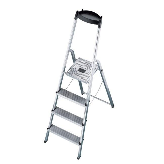Hailo Aluminum 4 Step Household Ladder Free Shipping