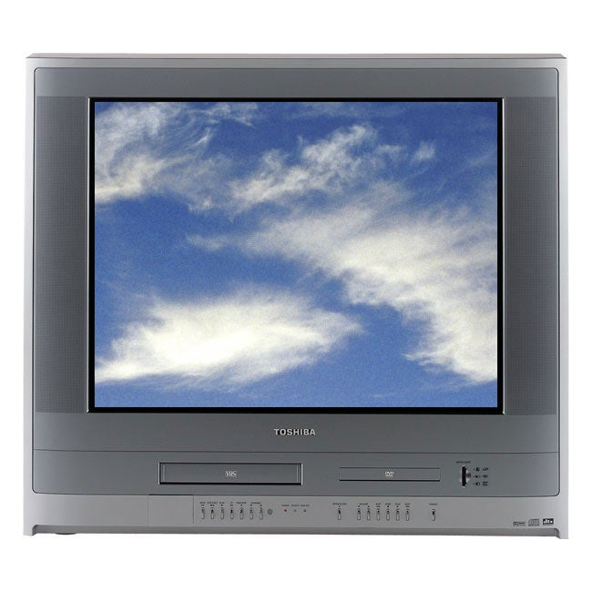 Toshiba MW27F51 27 inch Flat-Tube TV/VCR/DVD Player Combo with 4-in-1 Media Card Reader