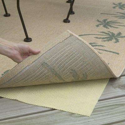 Con-Tact Brand Rectangular Outdoor Patio Rug Pad (9' x 12') - Grey - 9' x 12'