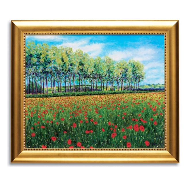 Christopher Kufner Poppies and Poplars Framed Canvas