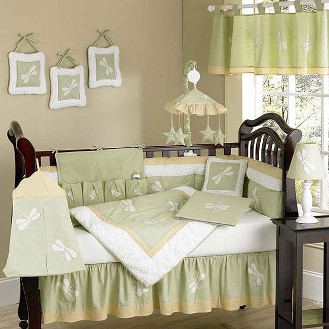 Dragonfly Dreams 12 Piece Green Crib Bedding Set Free Shipping Today 1988424