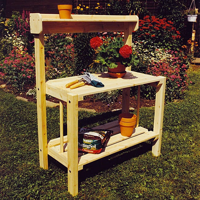 Rustic Adirondack Cedar Garden Potting Bench Free