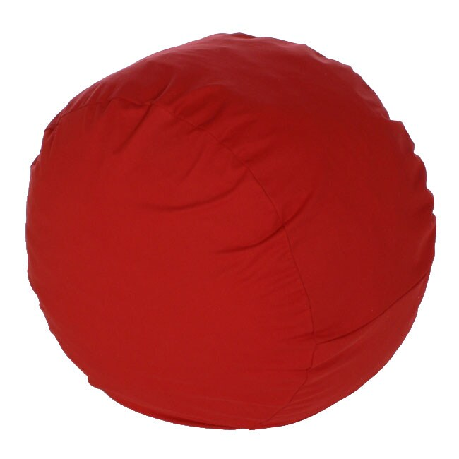 medium red twill foof chair free shipping today