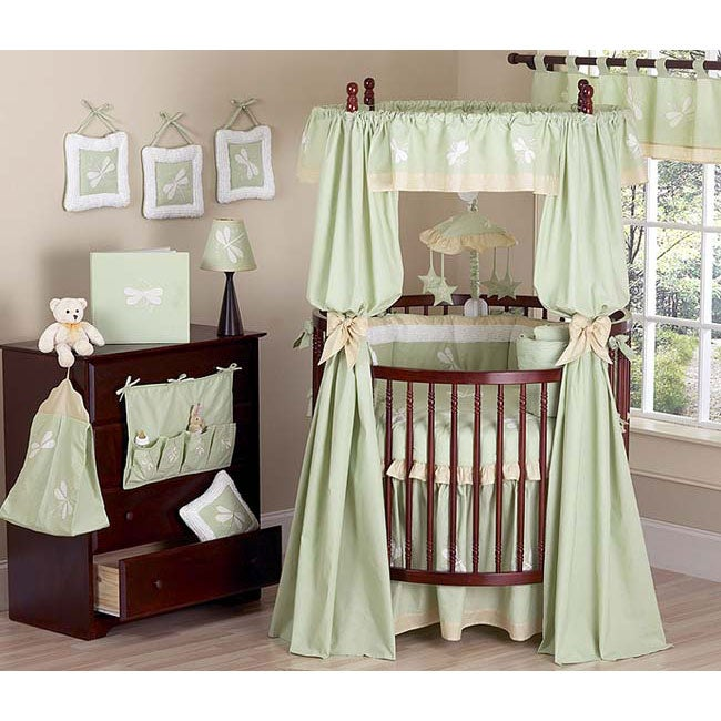 Dragonfly Dreams Round Crib 21 Piece Bedding Set Free