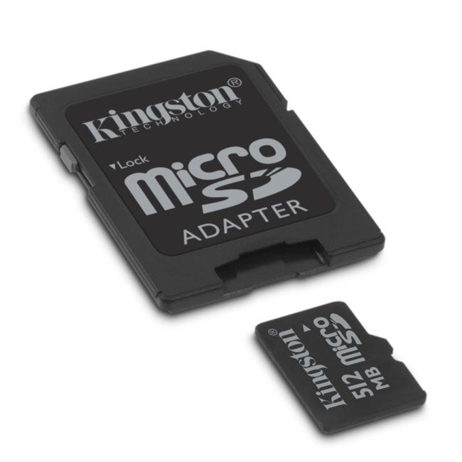 Shop Kingston 512MB Micro SD Memory Card With Adapter