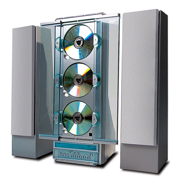 Bookshelf System Free Shipping: Coby CX3CD610 3-CD Tower Shelf System