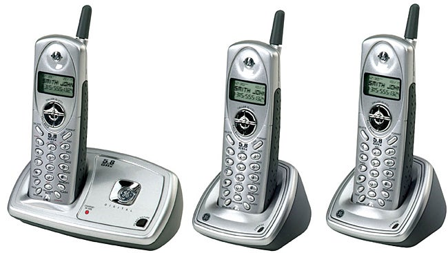 GE 5.8GHz Cordless Phone System with Three Handsets