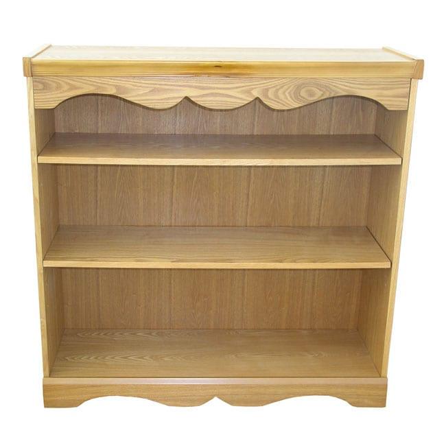 Great Adjustable Shelf Honey Oak Bookcase