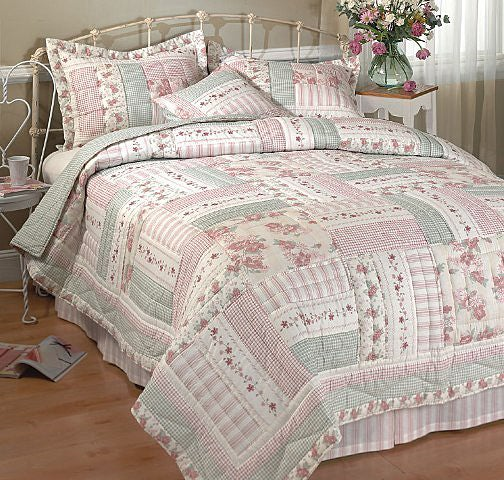 Shop Wild Roses Handcrafted Cotton Quilt Set Cal King Free