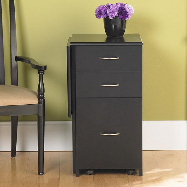 Black Pine File Storage Folding Desk Boomerang Free