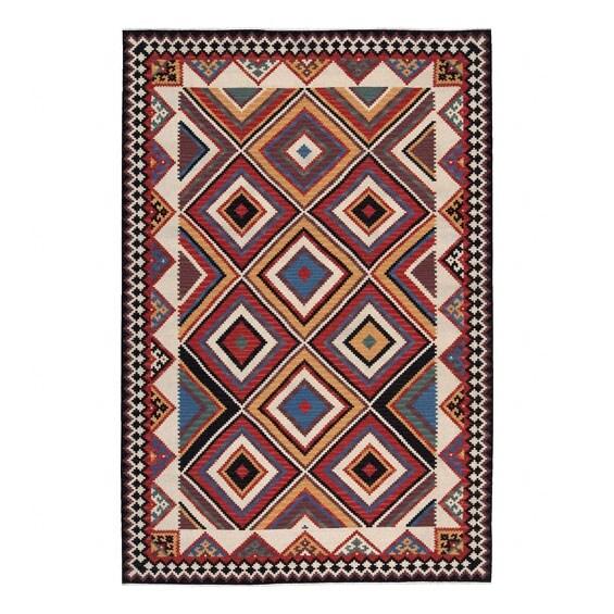Nourison Hand-woven Mongol Kilim Multi Wool Rug (9'9 x 13'9)
