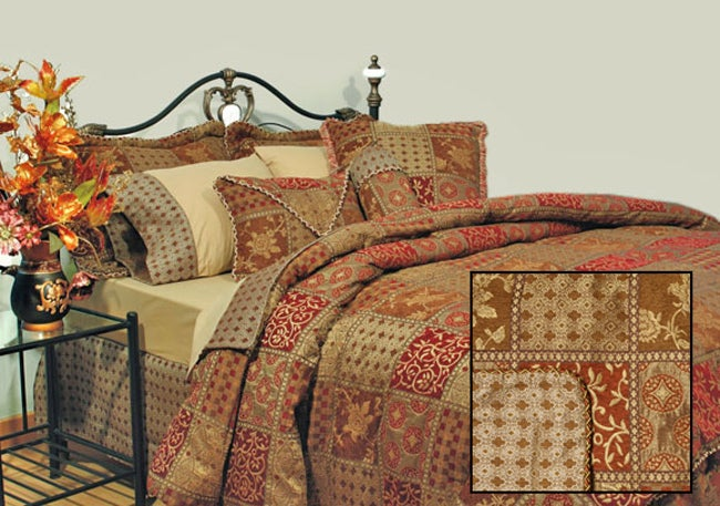 Amsterdam Chenille 4-piece Cal King Comforter Set (Open Box)