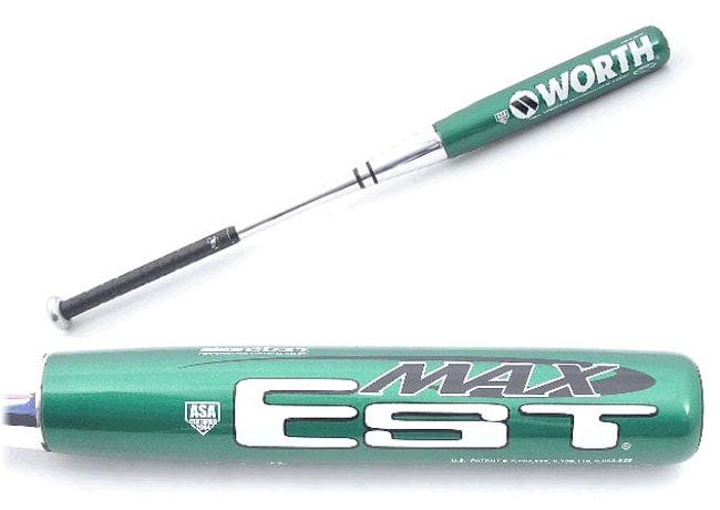 Worth EST Max Green (XGREEN) Slowpitch Softball Bat