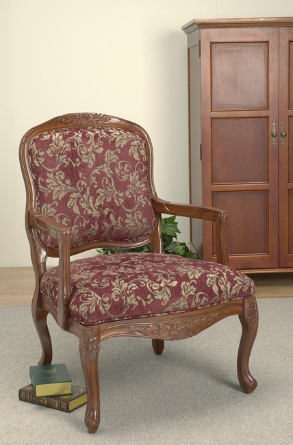 Burgundy Accent Chair Free Shipping Today Overstock