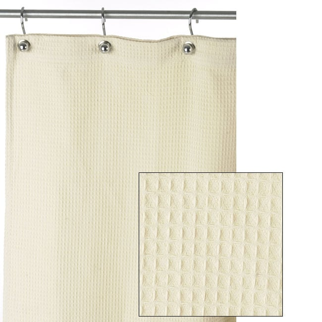 Shop Hotel Collection Spa Natural Cotton Shower Curtains