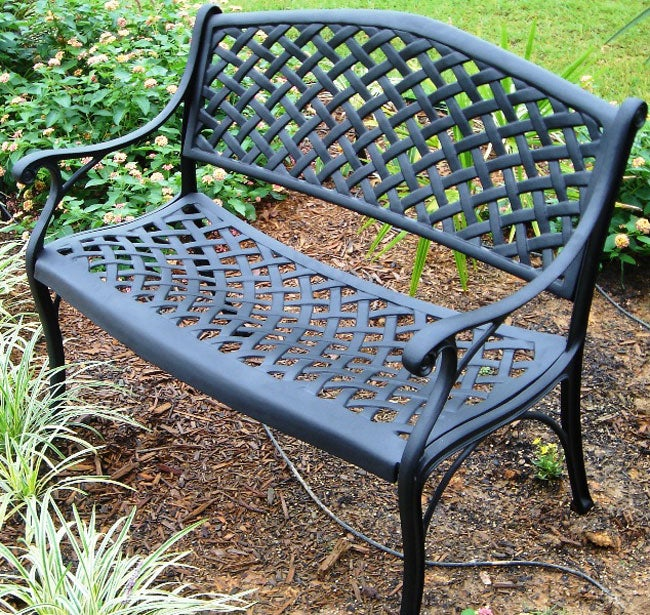 Nassau cast aluminum garden bench free shipping today 10374936 Aluminum benches
