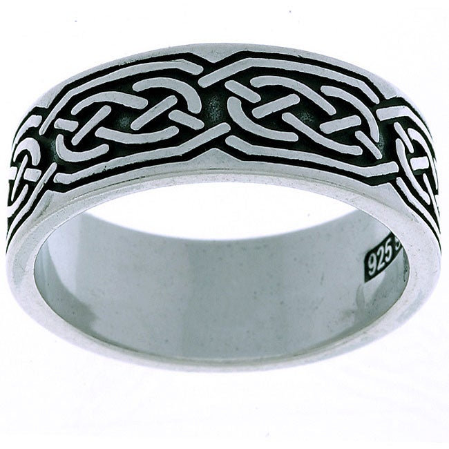 Carolina Glamour Collection Sterling Silver Celtic Round Knot Ring